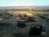 field full of wheels