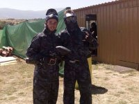two boys playing paintball
