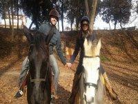 在蒙塞尼(Montseny)骑马1小时