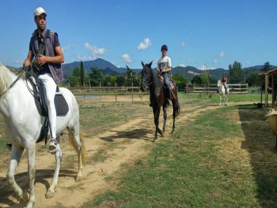 Horse riding route to Font Fresca in Montseny 1h