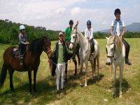 骑马圣玛丽亚·德帕劳特奥塔山谷