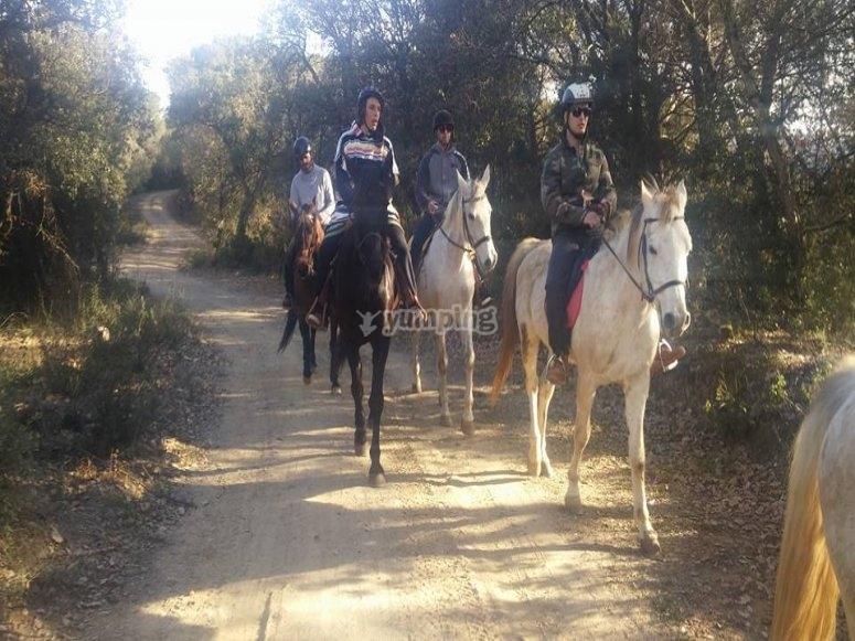 骑马穿过VallésOriental