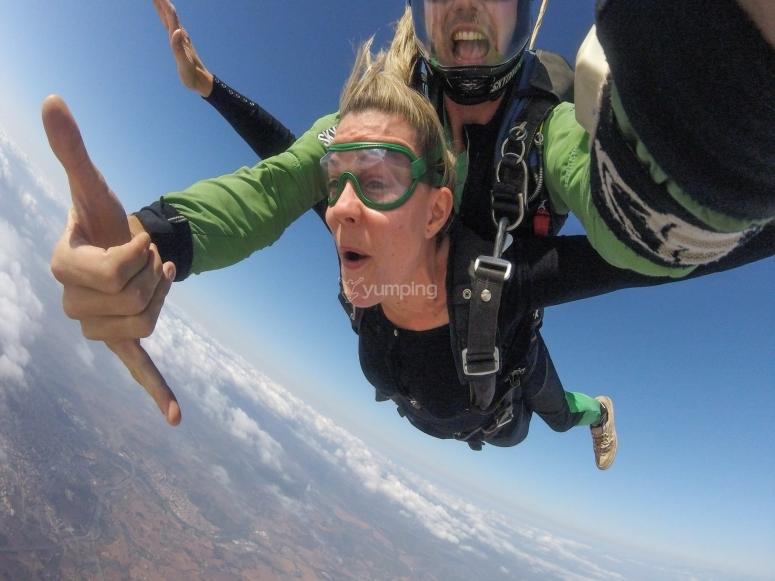 Parachute jump in Barcelona