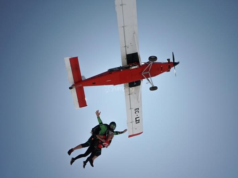 Paracadutismo con istruttore