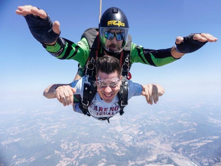 巴塞罗那跳伞洗礼