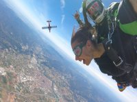 Parachute jump in Barcelona during the week
