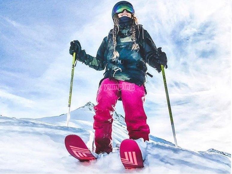 巴奎拉的滑雪板