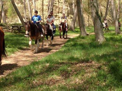 Ruta a caballo 1 hora y alojamiento en Morella