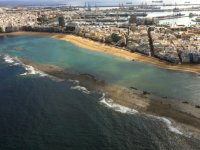 Views of the coast from a helicopter flight