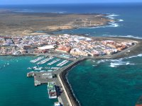 Corralejo Pier seen from the helicopter