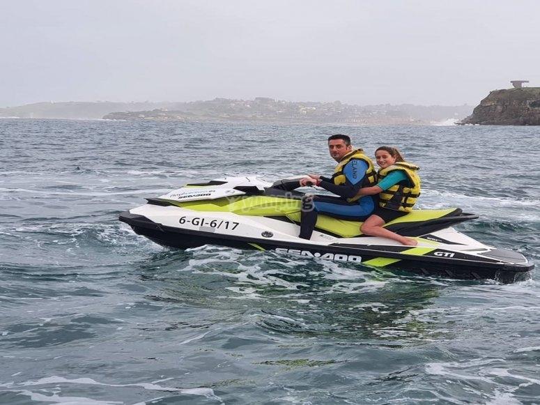 Guided water bike tour Villaviciosa