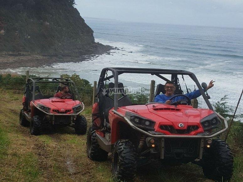 Buggy along the Asturian coast