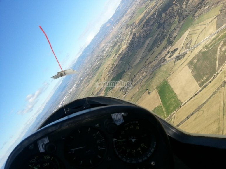 Turning inside the glider