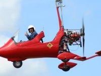 Enjoying an autogyro flight