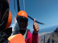 On board the autogyro