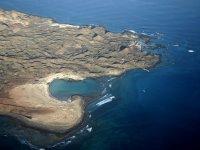 Isla de Lobos seen from the autogyro