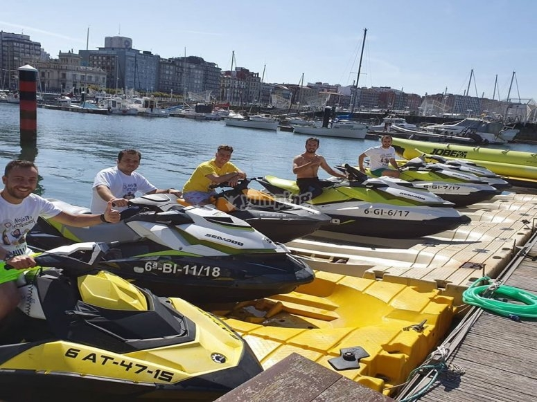 Jet ski activity Gijón