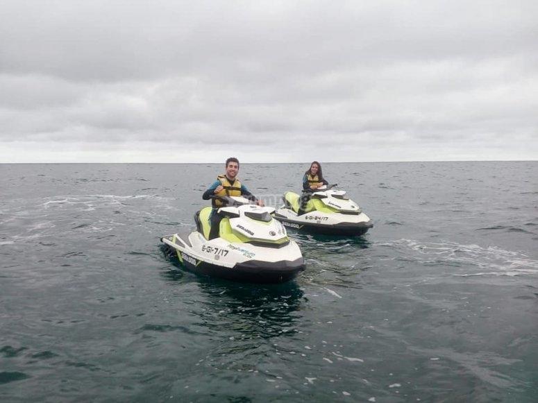 Excursión moto de agua Villaviciosa