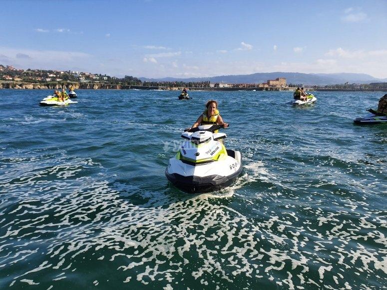 Salida en moto de agua Asturias