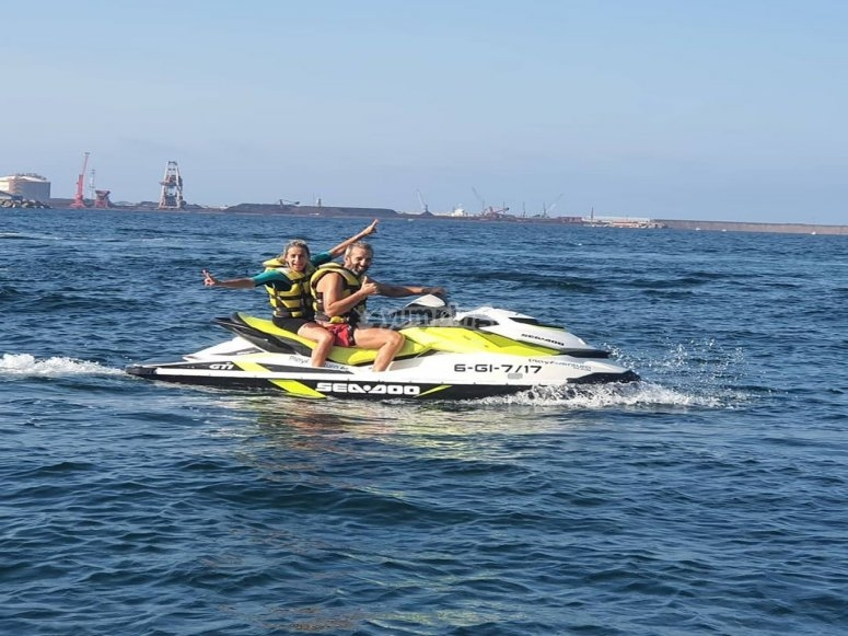 Route for two by jet ski