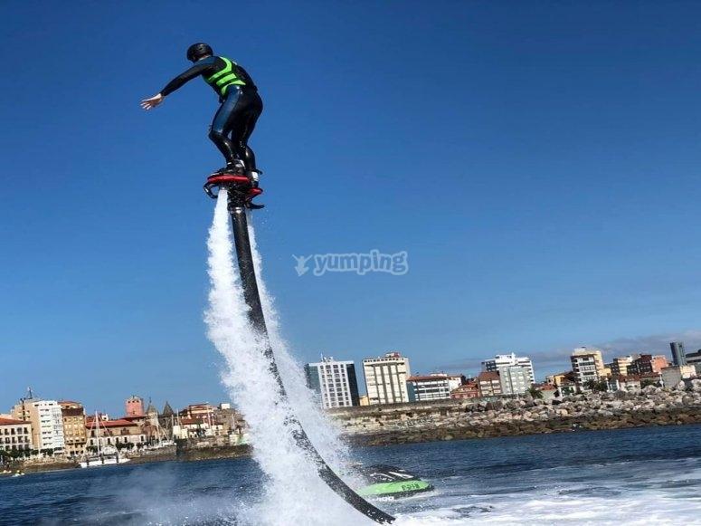 Flyboard session in Villaviciosa