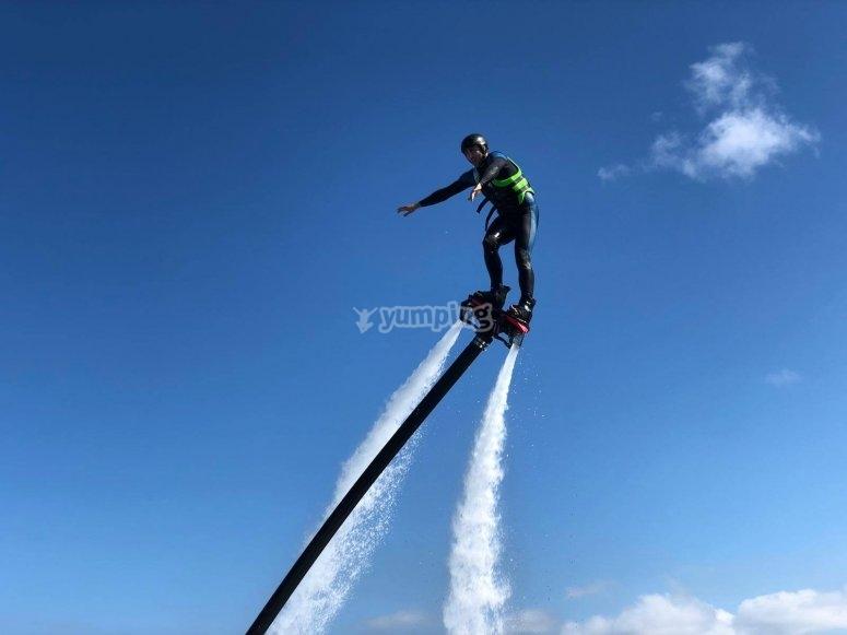 Ascending with Villaviciosa flyboard