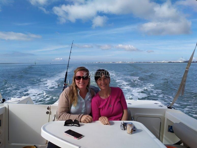 Salida de pesca familiar en Cádiz