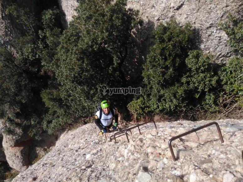 Via ferrata in Natural Park of Montserrat