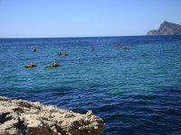 Por la costa en kayaks