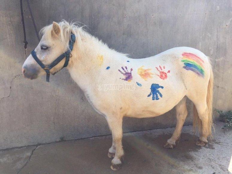 儿童画的小马