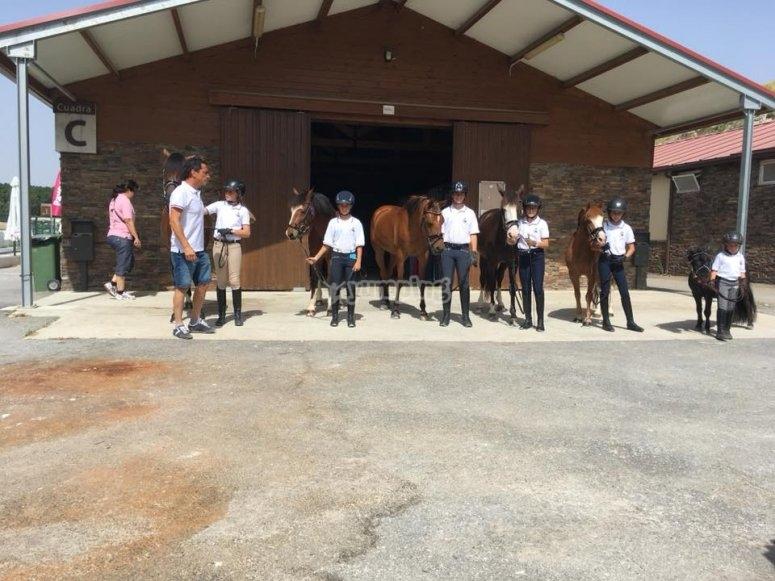 现代骑马设施