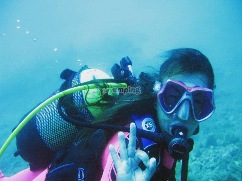 卡拉扬达潜水练习