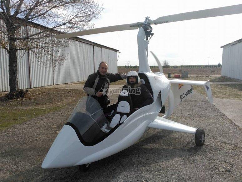 Paseo aéreo en girocóptero