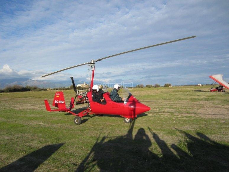 Piloto por un día de girocóptero