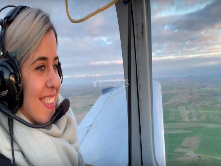 Piloting the plane through Toledo