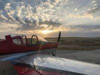 Avion en plataforma de Trebujena
