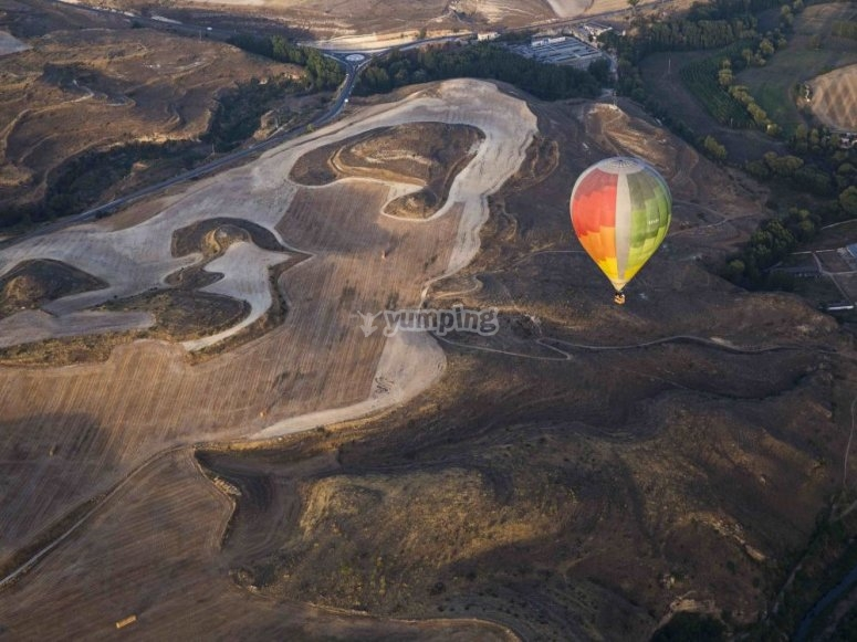 Landscape from hot air balloon
