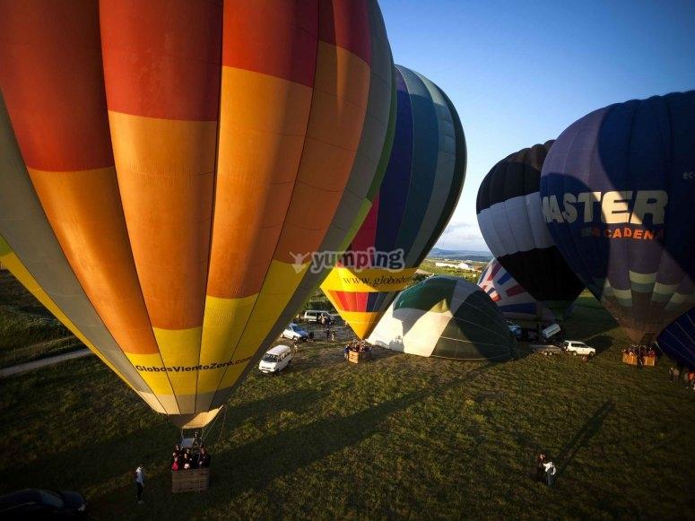 Salida en globo aerostático por Guadalajara