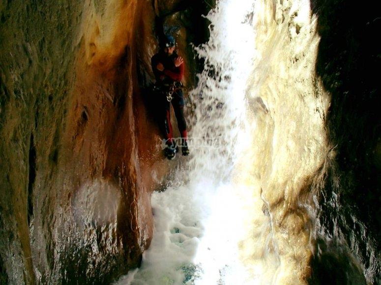 Water slide of the ravine