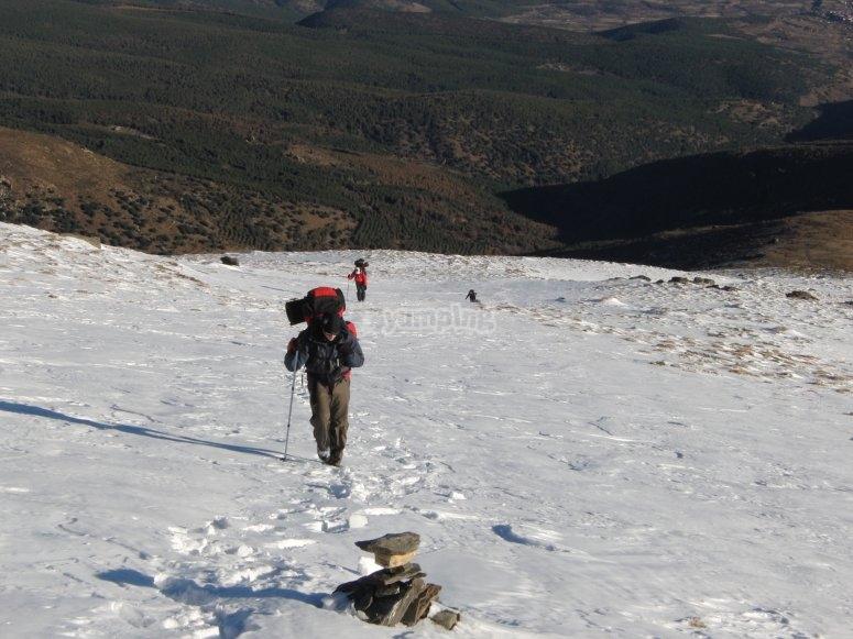 Ascendiendo por la ladera