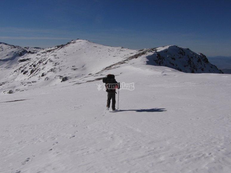 Descenso por la montaña