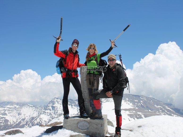 Disfrutando del pico Mulhacén