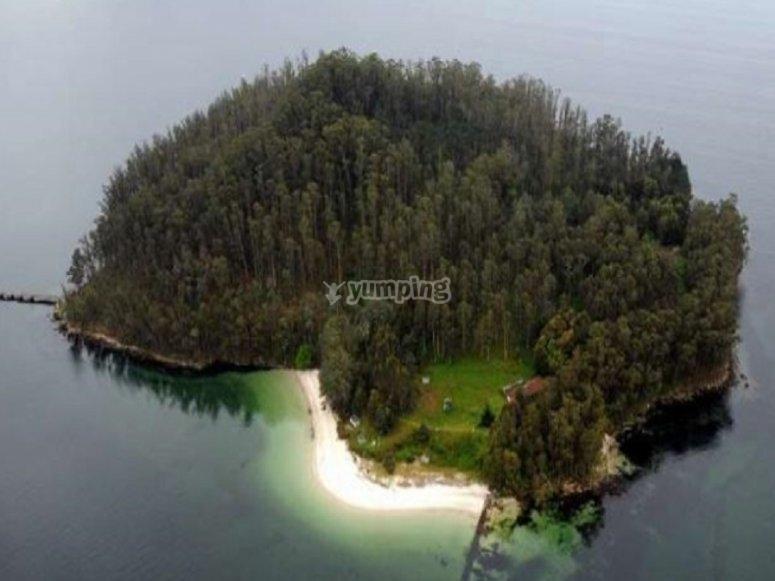 Isola nel Rías Baixas