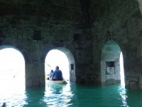 Arches of the Mediano church in the reservoir