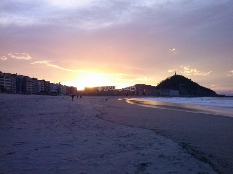 日落时从奥里奥