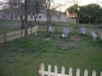 Cementerio en el jardin
