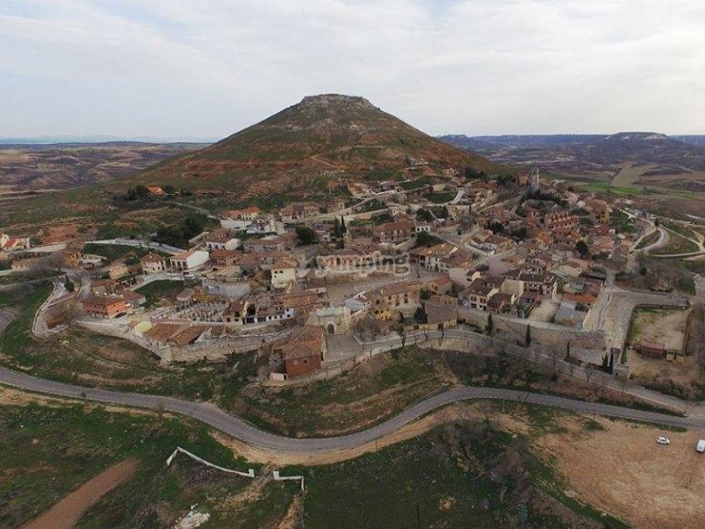 Imagen aérea del pueblo de Hita