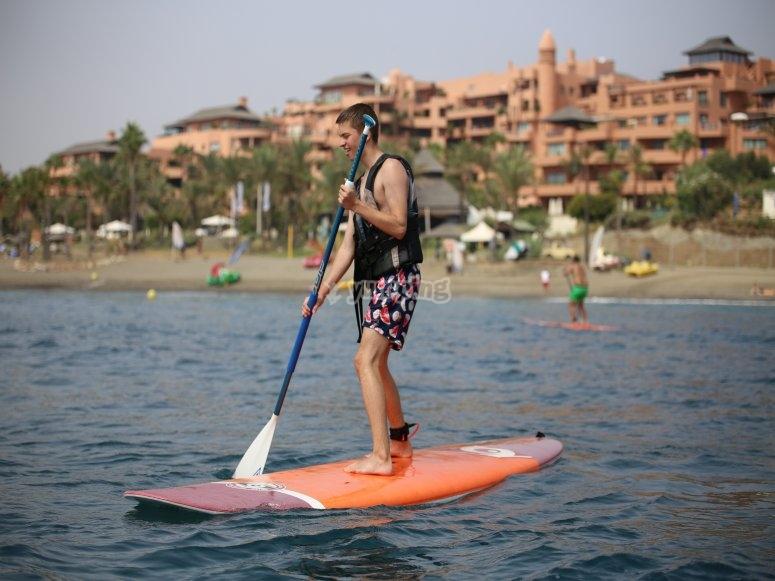 Paddle Surf en la zona de Estepona