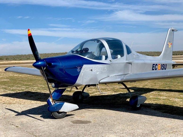 Avioneta en el aeródromo