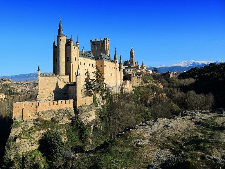 Vuelo sobre Alcázar de Segovia
